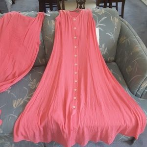 New  Coral pink summer dresse. Jane Ashley